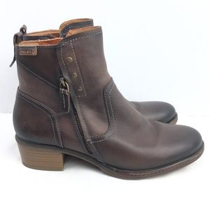 Pikolinos Leather Ankle Boots Brown Sz 8.5